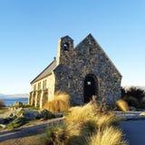 好牧羊人,特卡波湖,新西兰教会  库存照片