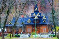 好的农村房子在喀尔巴阡山脉的地区 库存照片