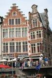 好的历史建筑在跟特比利时18 免版税库存照片