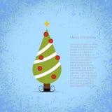 好的向量圣诞树 库存图片