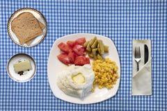 好的妙语Appetit午餐设置 库存图片