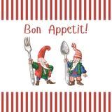 好的妙语Appetit卡片3 免版税库存图片