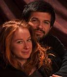 好的微笑的夫妇 免版税图库摄影