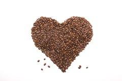 Coffee_heart_beans 免版税库存照片