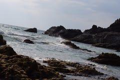 好的时间海滩背景 免版税库存图片