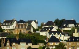 好的村庄房子在法国 免版税库存图片