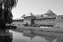 好的横向 老中世纪堡垒在城市Fagaras,特兰西瓦尼亚 免版税库存图片
