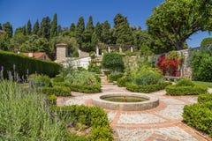 好的法国 Cimiez修道院庭院 图库摄影