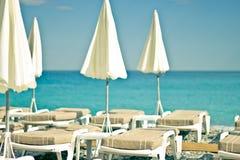 好的海滩法国 库存照片