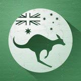 好的澳大利亚袋鼠象 向量例证