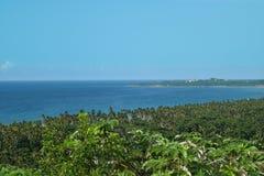 好的热带背景看法从山的顶端 库存图片