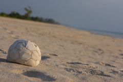 好的球时间海滩背景 免版税库存照片