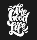 好的生活印刷术 T恤杉印刷品设计 库存图片