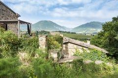 好的看法在卡梅里诺附近的意大利马尔什 免版税图库摄影