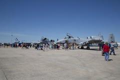 好的空军实力商展在城市 库存照片