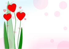 好的红色心脏为情人节 库存图片