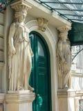 好的老房子在维也纳 免版税库存照片