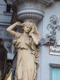好的老房子在维也纳 免版税库存图片