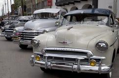 好的老车展在城市达拉斯 库存照片