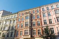 好的被恢复的老房子在柏林 免版税库存图片