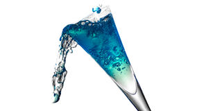 好的玻璃用水飞溅 免版税库存照片