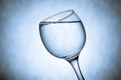 好的玻璃用水飞溅 库存照片