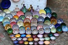 好的maroccan盘 库存图片