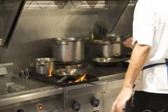 好的pic工业厨房元素工作 库存照片