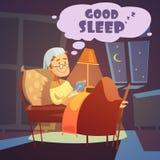 好睡眠例证 库存图片
