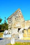 好罗马老基督教会IV世纪在村庄Densus,特兰西瓦尼亚, Romaniaa 库存照片