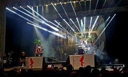 好莱坞不死舞台上在音乐会,罗马竞技场,布加勒斯特,罗马尼亚 免版税图库摄影