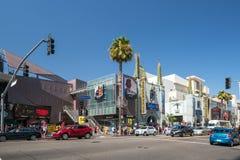 好莱坞大道看法加州的 库存图片