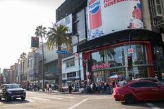 好莱坞大道,好莱坞, CA. 07-25-07 游人自白天 免版税库存照片