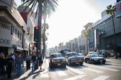 好莱坞大道,好莱坞, CA. 07-25-07 游人自白天 免版税库存图片