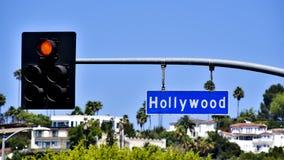 好莱坞大道,好莱坞, CA. 07-25-07 路牌 免版税库存照片