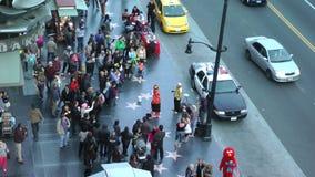 好莱坞星光大道的看法在好莱坞大道的在洛杉矶,加州大约2014年 股票录像