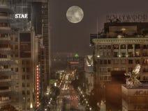 好莱坞月亮 免版税库存照片