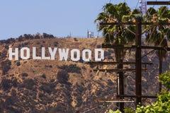 好莱坞标志白色信件 库存图片