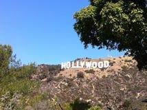 好莱坞标志LA 库存照片