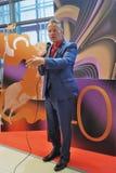 好莱坞演员约翰野人在莫斯科国际影片竞赛 免版税库存图片
