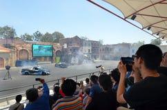 好莱坞特技在电影世界英属黄金海岸的司机2展示 免版税图库摄影