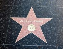 好莱坞玛里琳・门罗星形 库存照片