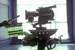 好莱坞电影工业的一台Arriflex 16mm电影照相机 免版税图库摄影
