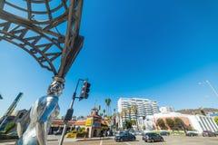 好莱坞眺望台的四个夫人在好莱坞大道的 免版税库存图片