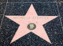 好莱坞米歇尔pfeiffer星形 免版税图库摄影