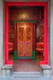 好莱坞路,香港- 2015年11月19日:对古庙的大门 免版税图库摄影