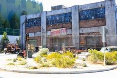 好莱坞,美国- 2017年6月12日:环球影业摄制亭子在洛杉矶 免版税图库摄影