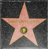 演员在名望好莱坞步行的克里斯托弗Reeve的星  免版税图库摄影