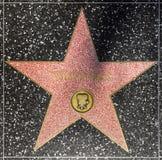 演员在名望好莱坞步行的汤姆Hanks星  免版税图库摄影