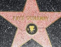 女演员在名望好莱坞步行的仙女的Dunaway的星  免版税图库摄影